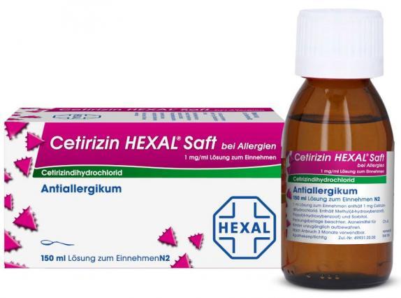 Cetirizin HEXAL Saft bei Allergien 1mg/ml
