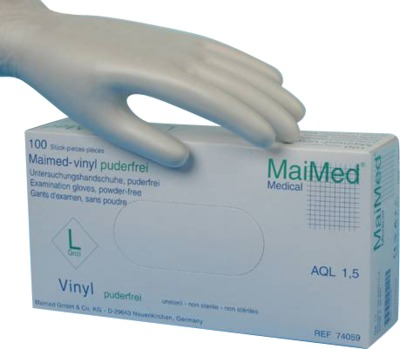 MaiMed vinyl Untersuchungshandschuhe unsteril Größe L
