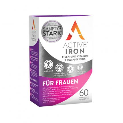 Active Iron Eisen und Vitamin B Komplex Plus FÜR FRAUEN