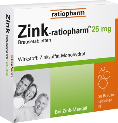 Zink-ratiopharm 25mg